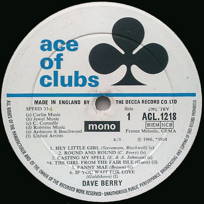 Cvinyl Com Label Variations Ace Of Clubs Records