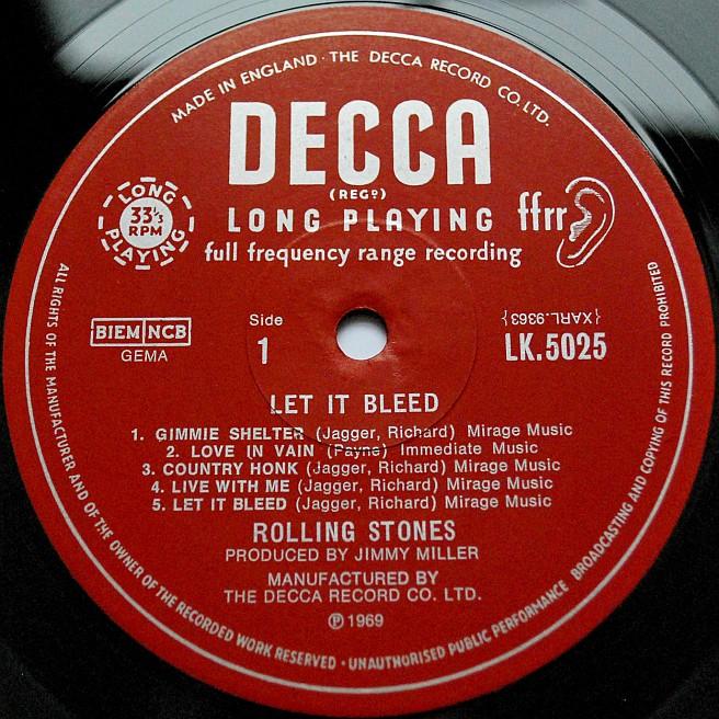 Decca Records Label Second Decca Label Mono