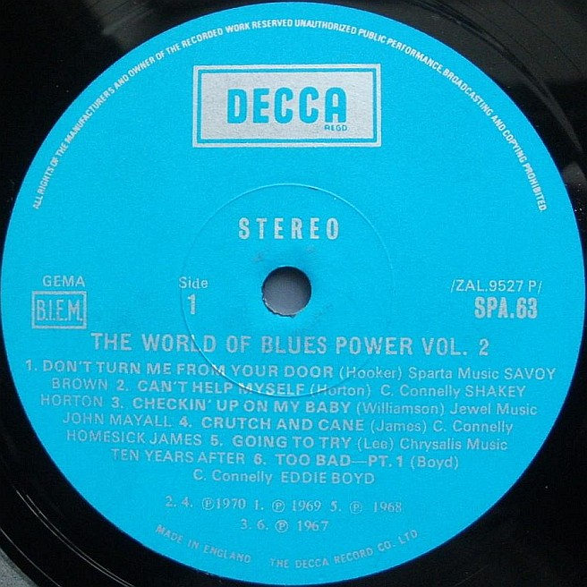CVINYL COM - Label Variations: Decca Records