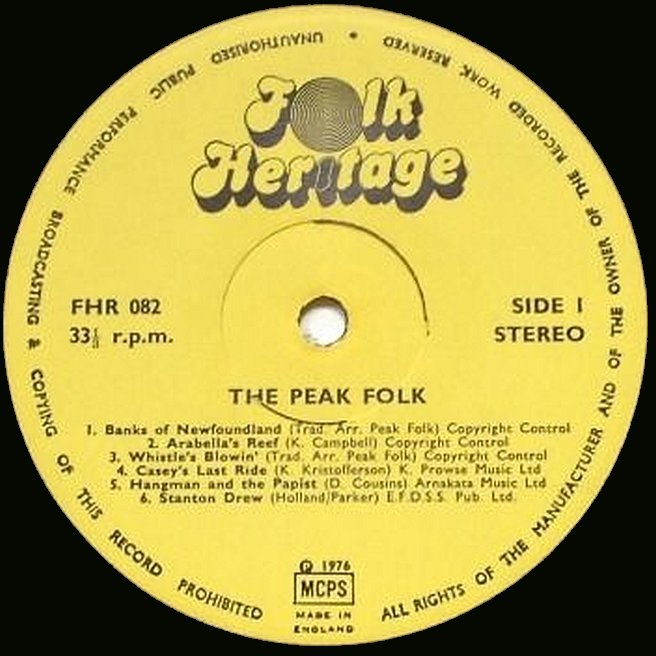 Label Variations: Folk Heritage Records