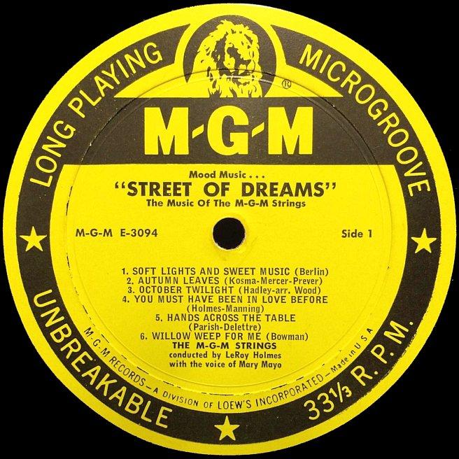 Cvinyl Com Label Variations Mgm Records