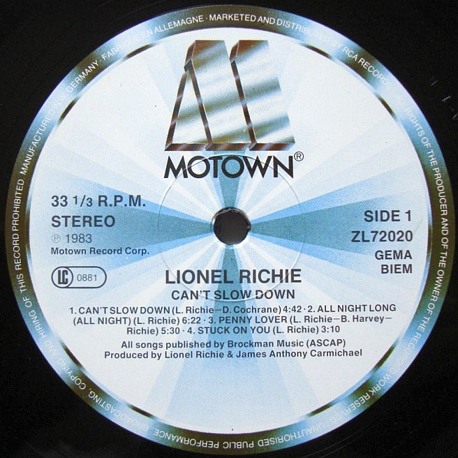 Cvinyl Com Label Variations Motown Records