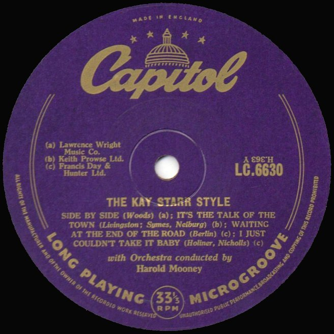 Cvinyl Com Label Variations Capitol Records