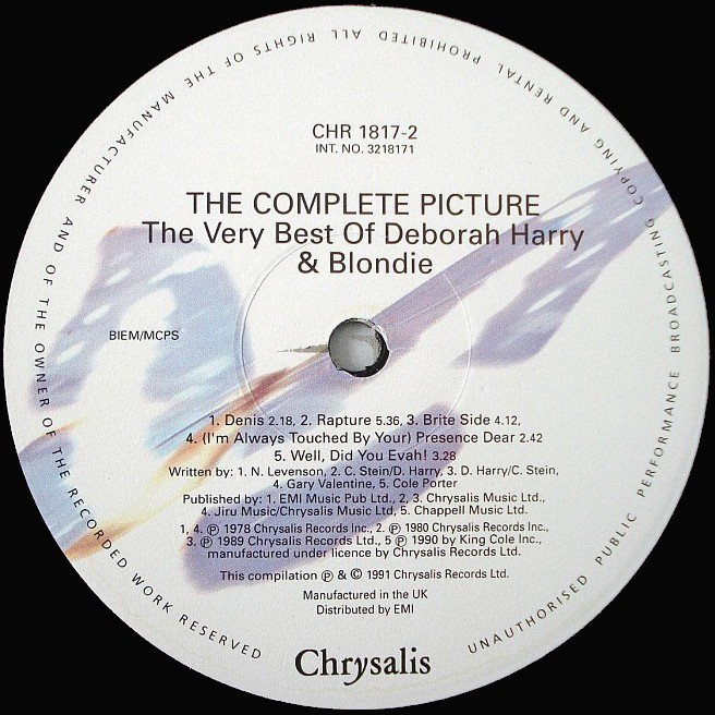 Cvinyl Com Label Variations Chrysalis Records