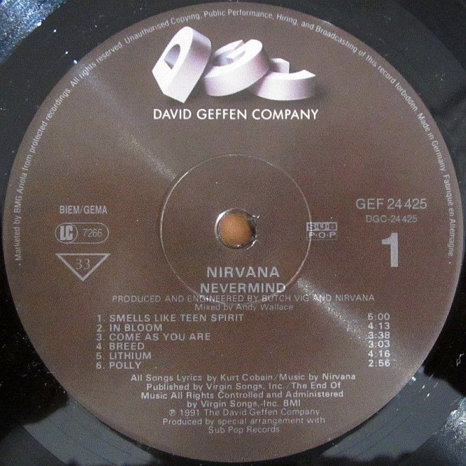 Cvinyl Com Label Variations Geffen Records